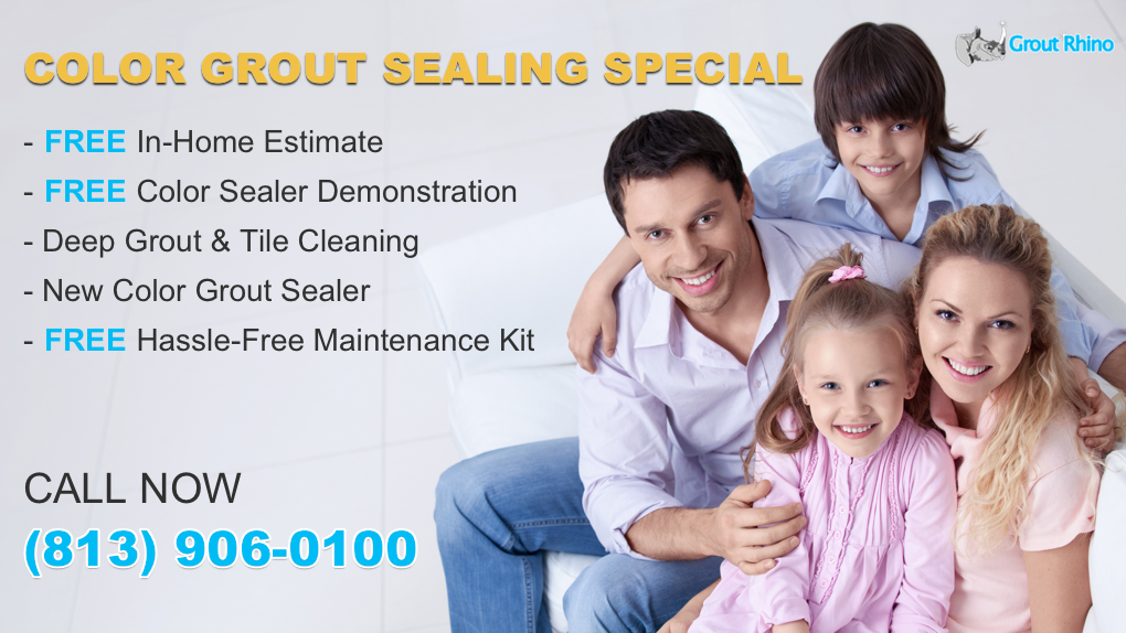 Professional Grout Cleaning Grout Sealing at Grout Rhino | Color Grout Sealing