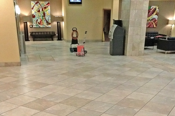 grout rhino cleaning entry lobby