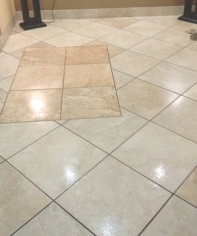 grout rhino cleaning entry lobby after